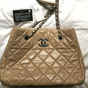 Chanel Bags - CHANEL Tan Shopping Tote
